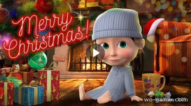 Masha and the Bear 2017 new English Merry Christmas with Masha and the Bear for kids full episodes Happy New Year